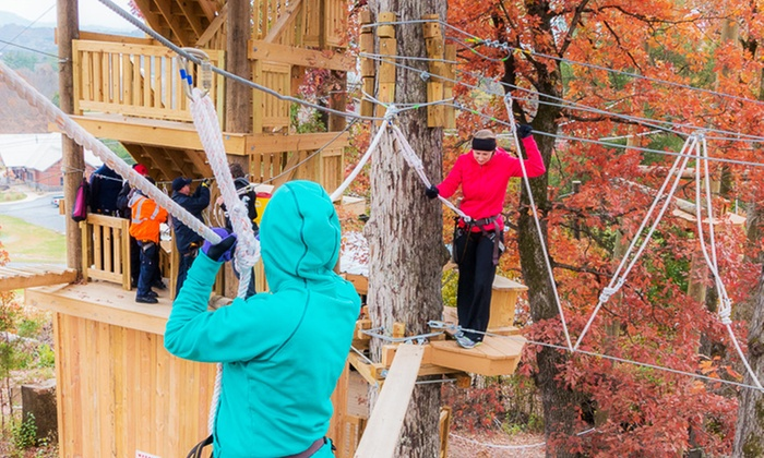 Adventureworks - River Plantation RV Resort: Climb, Zip, Swing Experience for One or Two, or an Annual Pass at Adventureworks (Up to 51% Off)