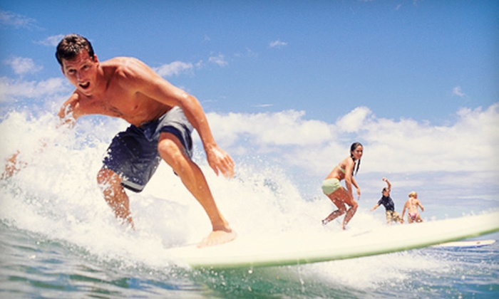 Pike's Surf School - Oak Park: Two-Hour Private Surfing Lesson for Two or Four at Pike's Surf School (Up to 65% Off)