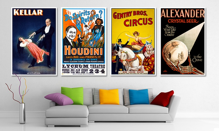 """33""""x22"""" Vintage Circus Poster Prints: 33""""x22"""" Vintage Circus Poster Prints. Multiple Prints Available. Free Returns."""