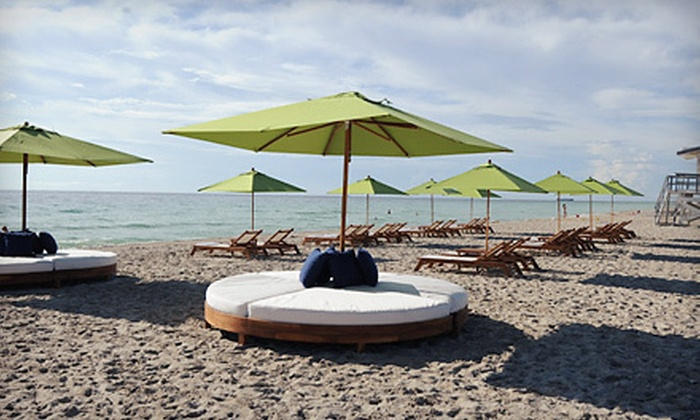 K17 Beach Club - Miami Beach: Beach Day and Drinks for Two with Chairs and an Umbrella or a VIP Cabana at K17 Beach Club (Up to 54% Off)