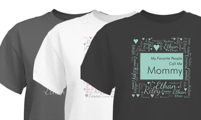 Women's Custom Favorite People Word-Art Shirt: Women's Custom Favorite People Word-Art Shirt from GiftsForYouNow.com (1- or 2-Pack)