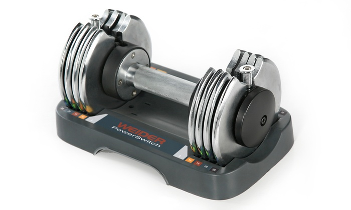 Weider Power Switch Single Adjustable Dumbbells