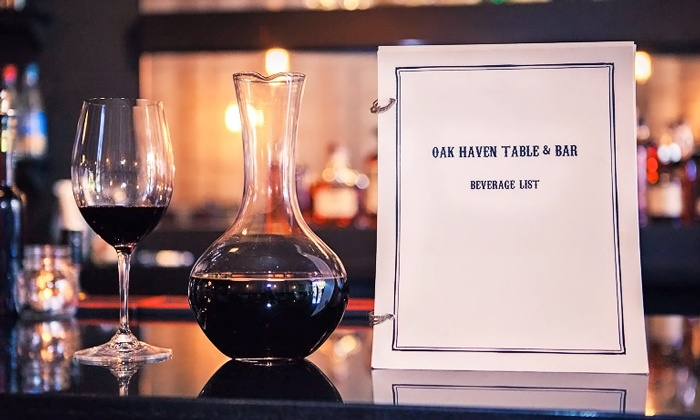 Oak Haven Table & Bar - East Rock: $35 for Oak Board with Wine at Oak Haven Table & Bar ($53 Value). Reservation Through Groupon Required.