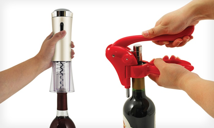 Manual and Automatic Wine Openers: The Red Virtuoso or Silver Lux Rechargeable Corkscrew (Up to 42% Off). Free Shipping and Free Returns.