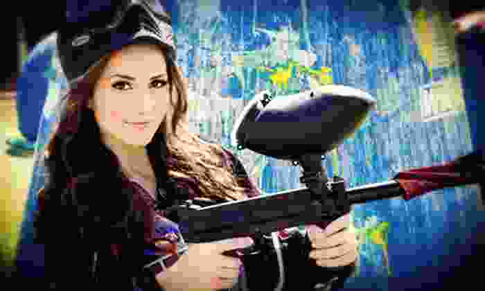 Jungle Games Paintball - Bay Paintball: $20 for a Paintball Outing with Equipment Rental for Four at Jungle Games Paintball ($120 Value)