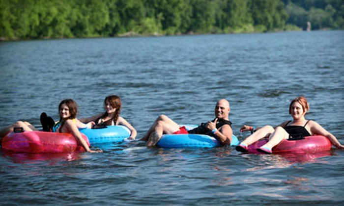 Delaware River Tubing - Frenchtown: Tubing or Rafting Trip Including Barbecue Meal from Delaware River Tubing in Stockton (Up to 48% Off)