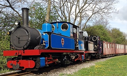 Steam Train Tickets for Two Adults or Family of Four at Kirklees Light Railway