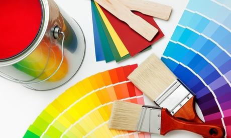 2 capas de pintura en paredes y techos para estancias de hasta 50, 75, 100 o 150 m² de suelo desde 154 € en Blanco Dcal Oferta en Groupon