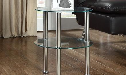 Valencia, Essen or Napoli Glass Side Table