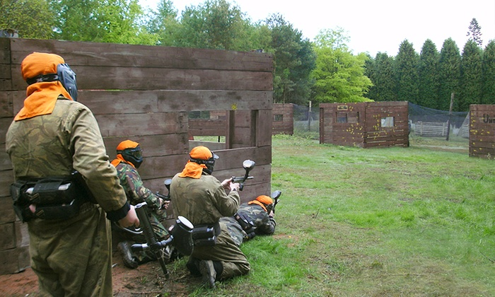 Paintball Park - Kidderminster: Paintball Park Session with Lunch for Up to 20 People (Up to 86% Off)