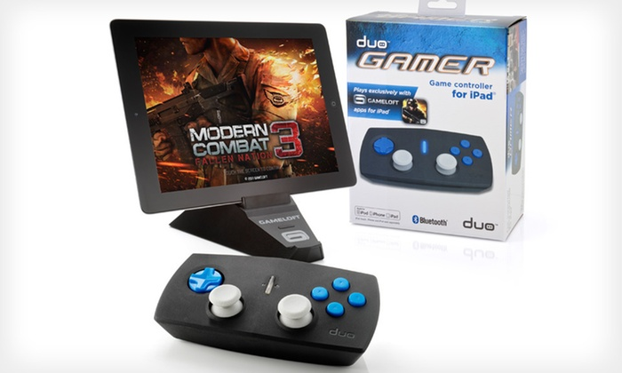 Duo Gamer Controller for iPad: $11.99 for a Discovery Bay Games Duo Gamer Wireless Controller for iPad ($39.99 List Price). Free Returns.