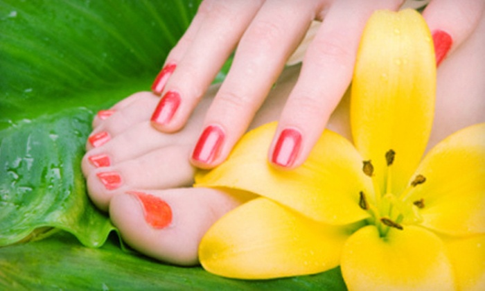 Renew Beauty Med Spa - North Dallas: $39 for a Shellac Manicure and Spa Pedicure at Renew Beauty Med Spa ($90 Value)