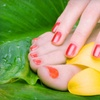 57% Off Shellac Manicure and Spa Pedicure