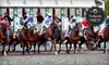 Portland Meadows - Bridgeton: Live Horse Racing Outing for Two or Four with Souvenirs, Food, and Drinks at Portland Meadows (Half Off)