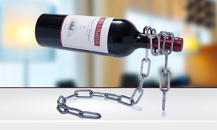 Sacred Wine: One or Two Magic Chain Wine Bottle Holders (Up to 63% Off)