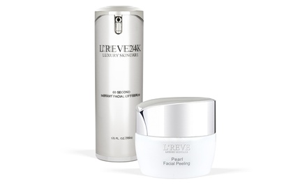 L'Reve 60 Second Instant Lifting Serum and Pearl Facial Peeling Gel