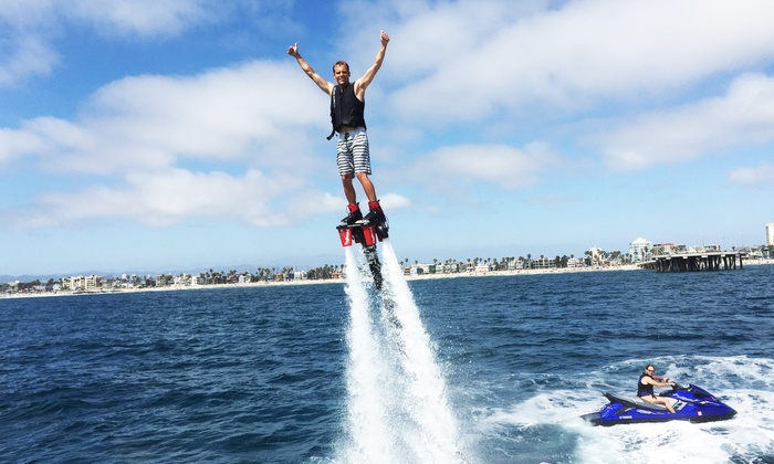 LA Flyboard - Marina Del Ray: Three-Hour Jetpack/Flyboarding Experience for Two or Four at LA Flyboard (Up to 38% Off)