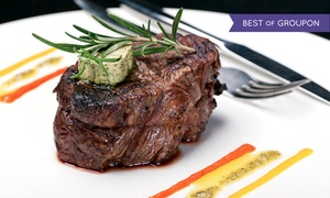 The Broker Restaurant: $89 for a Four-Course Prix Fixe Steakhouse Dinner for Two with Wine at The Broker Restaurant ($180 Value)