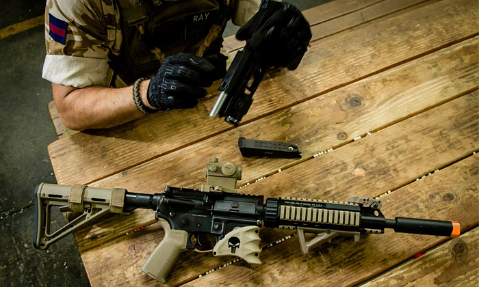 Tac City Airsoft - Baldwin Park: All-Day Airsoft Package with Gear Rental and Unlimited Ammo for 2 or 4 at Tac City Airsoft (Up to 64% Off)