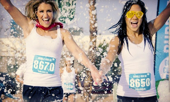 The Bubble Run - Mission Valley East: $25 for 5K-Race Entry on Saturday, September 7, at 9 a.m. from The Bubble Run (Up to $50 Value)