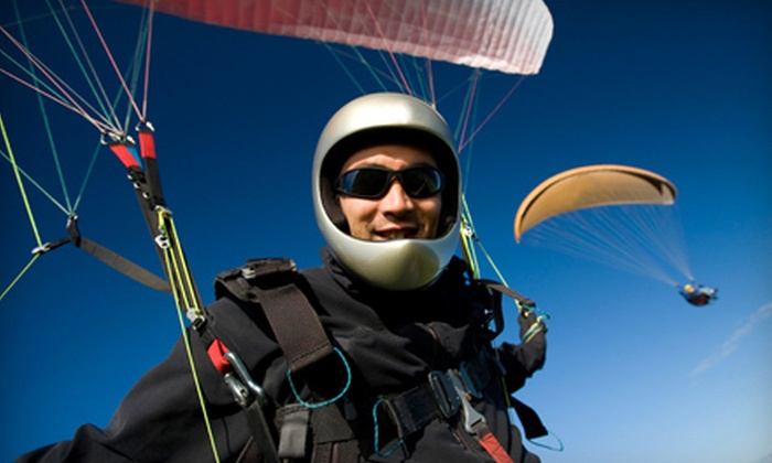 ThrillZown - Jefferson: Tandem-Paragliding Experience for One or Two from ThrillZown in Nappanee (Half Off)
