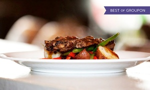 Lago Bar|Grill|View: Three-Course Contemporary Dinner with Wine for Two or Four at Lago Bar Grill View (Up to 49% Off)