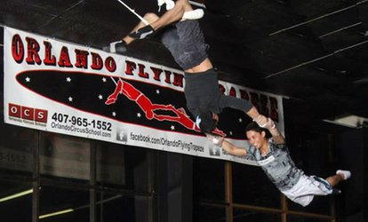 Two-Hour Group Flying Trapeze Class for One, Two, or Four at Orlando <strong>Circus</strong> School (Up to 45% Off)