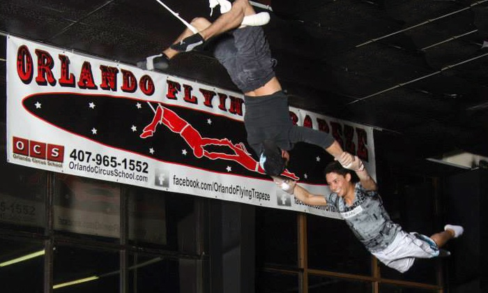 Orlando Circus School and Orlando Flying Trapeze - Orlando Circus School and Orlando Flying Trapeze: Flying-Trapeze Class for One, Two, or Four at Orlando Circus School and Orlando Flying Trapeze (Up to 53% Off)
