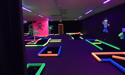 image for Glow-In-The-Dark Mini Golf for Two, Four, or Six at Glow in One Mini Golf (Up to 56% Off)