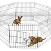 Wire Metal Paneled Pet Playpen