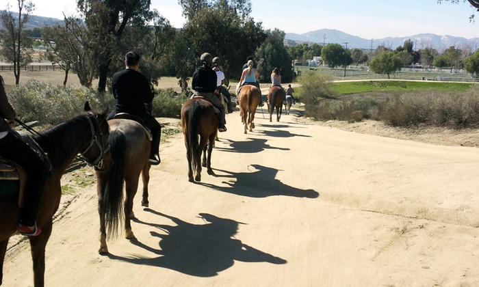 Green Acres Ranch - Temecula: 75-Minute Guided Horseback Trail Ride for One or Two from Green Acres Ranch (Up to 52% Off)