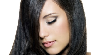 Angela Vu at Studio Elements: Haircut with Optional All-Over Color, Retouch, or Highlights from Angela Vu at Studio Elements (Up to 50% Off)