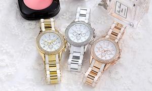 oferta: Reloj Timothy Stone cronógrafo adornado con 130 cristales Swarovski® por 29,90 € (70% de descuento) con envío gratuito
