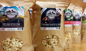 Kettle Heroes Gourmet Artisan Popcorn: Choice of Three 1.5 Pound Popcorn Bags or a  3.5 Gallon Gift Tin from Kettle Heroes (Up to 50% Off)