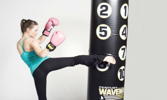 Women Fitness Edmonton - La Perle Shopping Centre: 10 or 20 Women-Only Kickboxing Fitness Classes at Women Fitness Edmonton (Up to 80% Off)