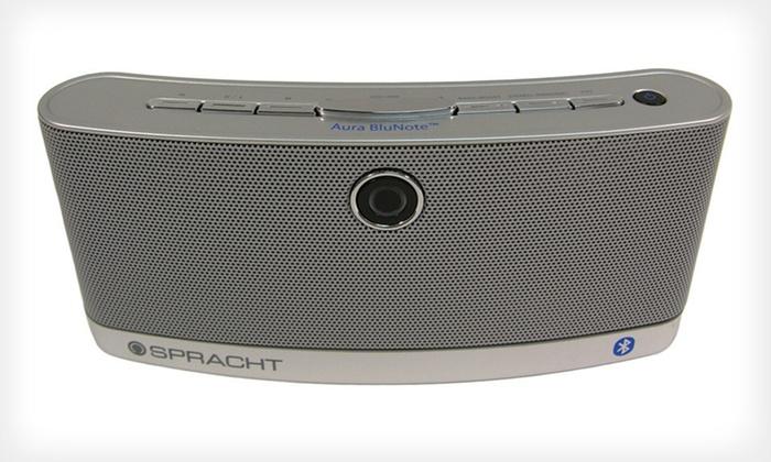 Spracht Portable Bluetooth Speaker: $31.99 for a Spracht Aura BluNote Bluetooth Speaker ($99.99 List Price)