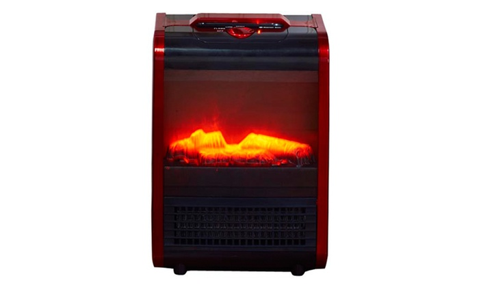 Comfort Zone Mini Ceramic Fireplace Portable Heater | Groupon