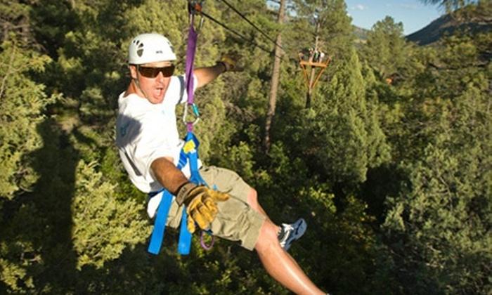 Full Blast Adventure Center - Durango: Two-Hour Ponderosa Zipline Tour for Two or Four from Full Blast Adventure Center (Up to 55% Off)