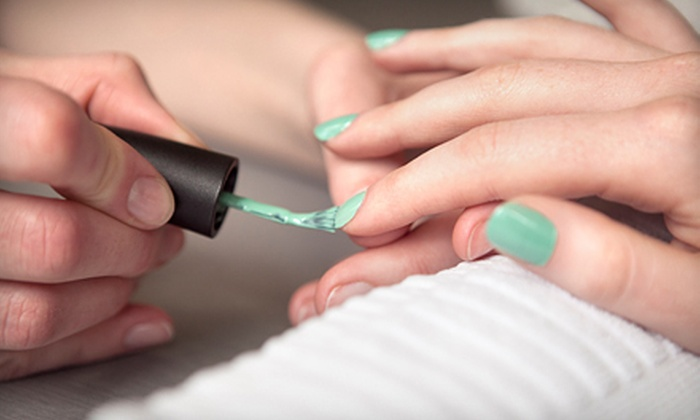 Lotus Jade Nail Bar - Winnipeg: One or Two Regular or Shellac Mani-Pedis at Lotus Jade Nail Bar (Up to 54% Off)