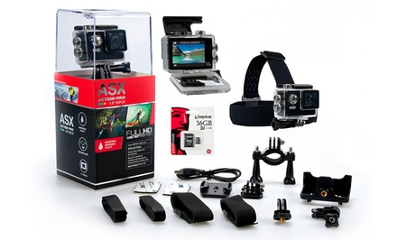 ASX ActionPro HD Sports Camera Bundle