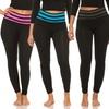 Women's Striped Waistband Leggings (5-Pack)