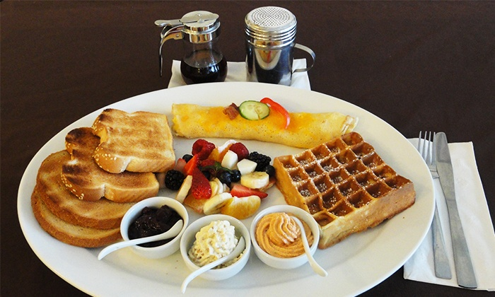 Savoury and Sweet Restaurant - Niagara Falls: Groupon Exclusive: Three-Course European Dinner for 2 or 4 or Breakfast Specialty Platter for One