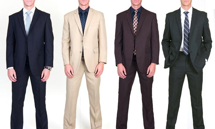 c13ae4985c1 Braveman 2-Piece 2-Button Men s Suits with Free Tie