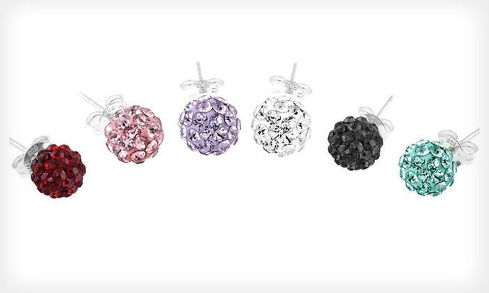 Crystal Fireball Stud Earrings: $6 for One Pair of Crystal Fireball Stud Earrings ($25 List Price). Six Colors Available. Free Returns.