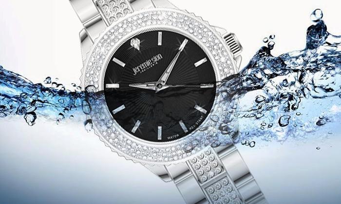 Montre acier Jeremie Sion ornée de 120 cristaux Swarovski® Elements    Groupon Shopping af50e10cfec