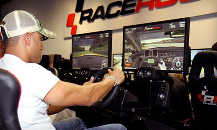 RaceRoom Fresno at River Park - Fresno: Two Sessions in Single- or Triple-Screen Racing Simulator at RaceRoom Fresno at River Park (Up to 64% Off)