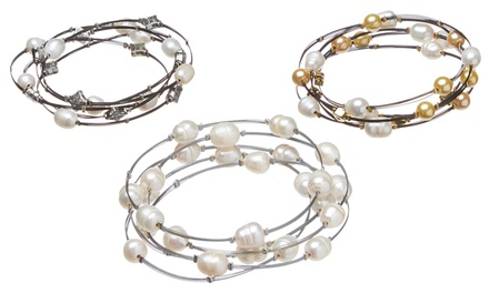 $10 for Freshwater Pearl Bracelets (5-Piece)