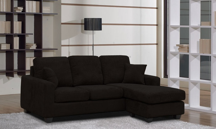 Fabric Chaise Sofa Groupon Goods