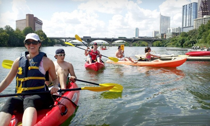 Congress Avenue Kayak - South River City: Tandem-Kayak or Standup-Paddleboard Rentals from Congress Avenue Kayaks (Up to 56% Off). Three Options Available.