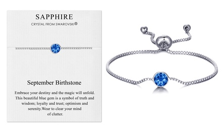 Philip Jones Birthstone Bracelet with Crystals from Swarovski®